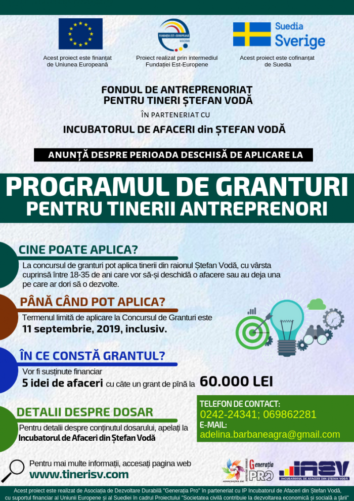 ANUNȚ Program de Granturi 2019